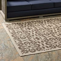 Ariana Vintage Floral Trellis Indoor and Outdoor Area Rug - 8' x 10'