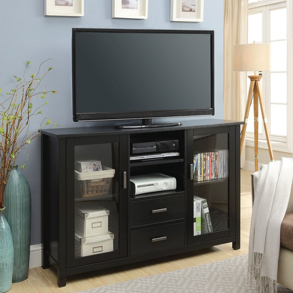 Teddy Transitional 52-inch Black Multi-Storage TV Stand by FOA