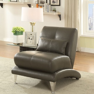 Furniture of America Max Modern Leatherette Tufted Accent Chair