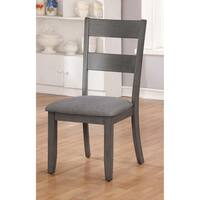 Relia Transitional 18.5-inch Grey Side Chair (Set of 2) by FOA