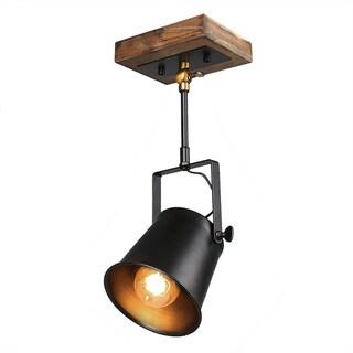 LNC Wood Close to Ceiling Track Lighting Spotlights 1-Light Track Lights