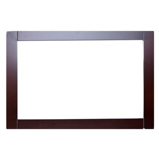 "Eviva Aberdeen 36"" Teak Framed Bathroom Wall Mirror - Brown - N/A"