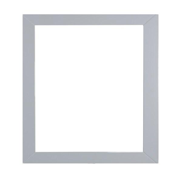 "Eviva Aberdeen 30"" Grey Framed Bathroom Wall Mirror"