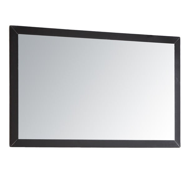 Shop Eviva Shaker 36 Espresso Framed Bathroom Wall Mirror Black N A Free Shipping Today