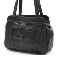AFONiE 3 Compartment Leather Hobo Handbag