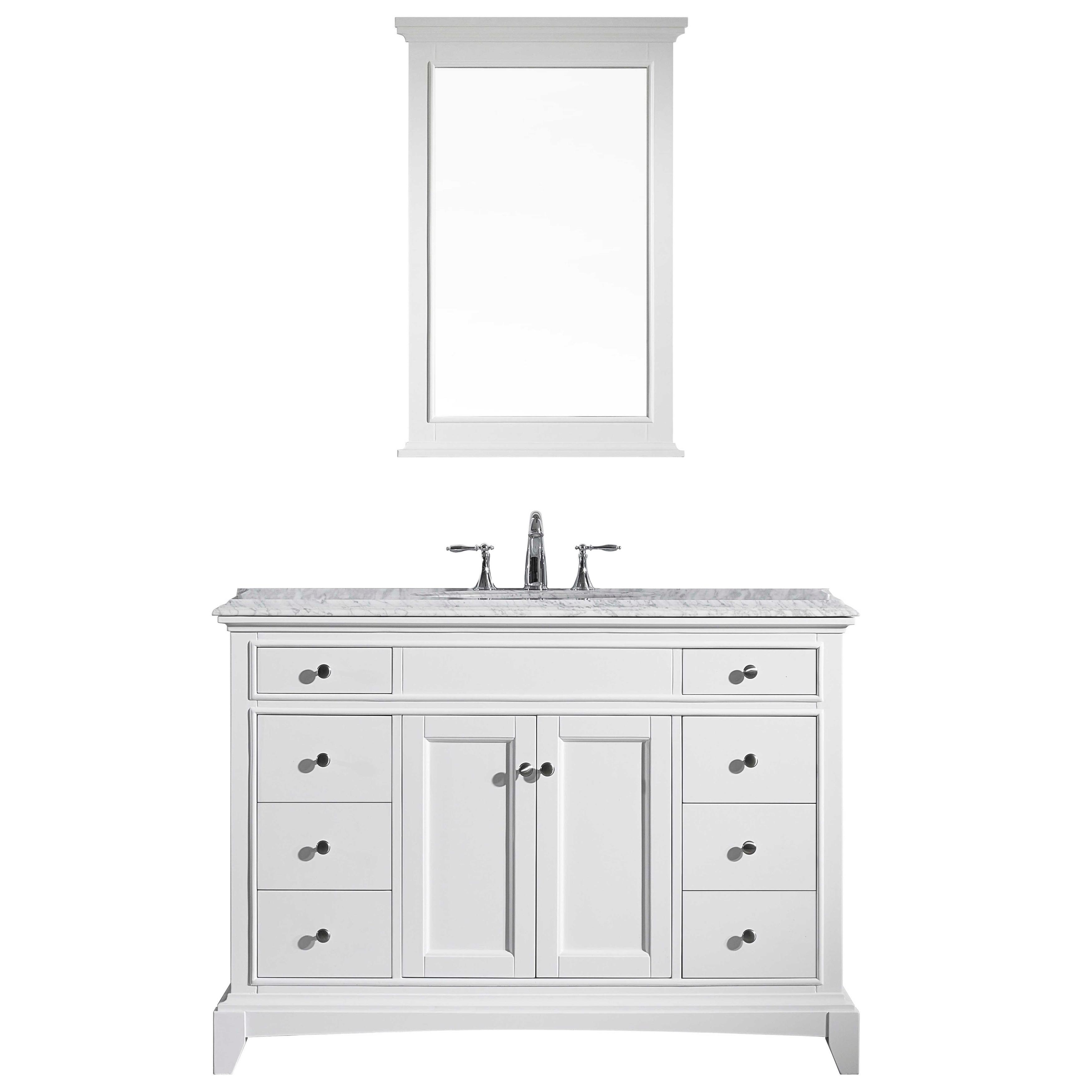 "Eviva Elite Stamford 42"" White Bathroom Vanity, Size Sing..."