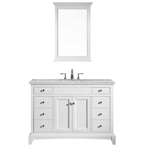"Eviva Elite Stamford 42"" White Bathroom Vanity"