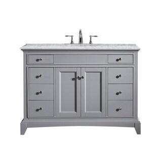 Eviva Elite Stamford 42-inch Grey Wood/Marble Vanity