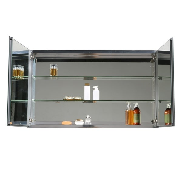 Shop Eviva Mirror Medicine Cabinet 48 Quot With Led Lights