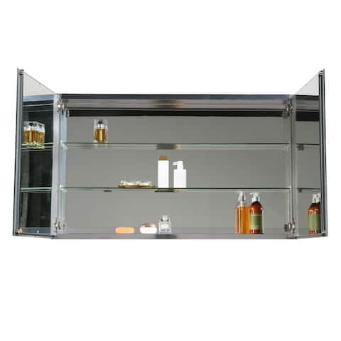"Eviva Mirror Medicine Cabinet 48"" with LED Lights"