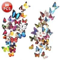 3D Butterfly Wall Decal , 80 PCS Wall Decals Sticker