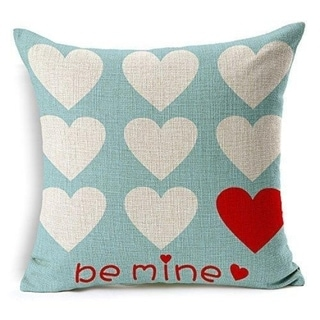 Love Hearts Be Mine Home Decor Throw Pillow Case Cushion Cover 18 x 18 Inch