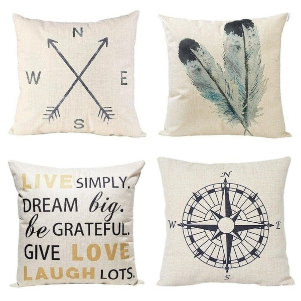 Shop Nautical And Quote 18 Inch Decorative Throw Pillow Covers