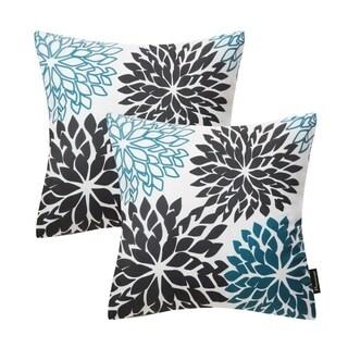 "Set of 2 Dahlia Series Throw Pillow Cushion Cover 18"" x 18"""