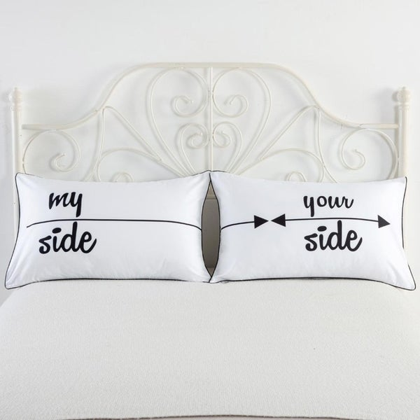 My side and Your Side Pillow Cases, Couples Gift, His Hers Pillowcase Set, Couples Pillowcase Set