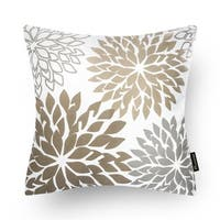 Set of 4 Coffee Color Throw Pillow Case for Couch Decor
