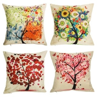 Gentil Under The Tree Throw Pillow Covers Decorative Pillowcases 18x18inch