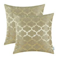 Pack of 2 Pillow Cover Cases Shells 18 X 18 Inches Gold
