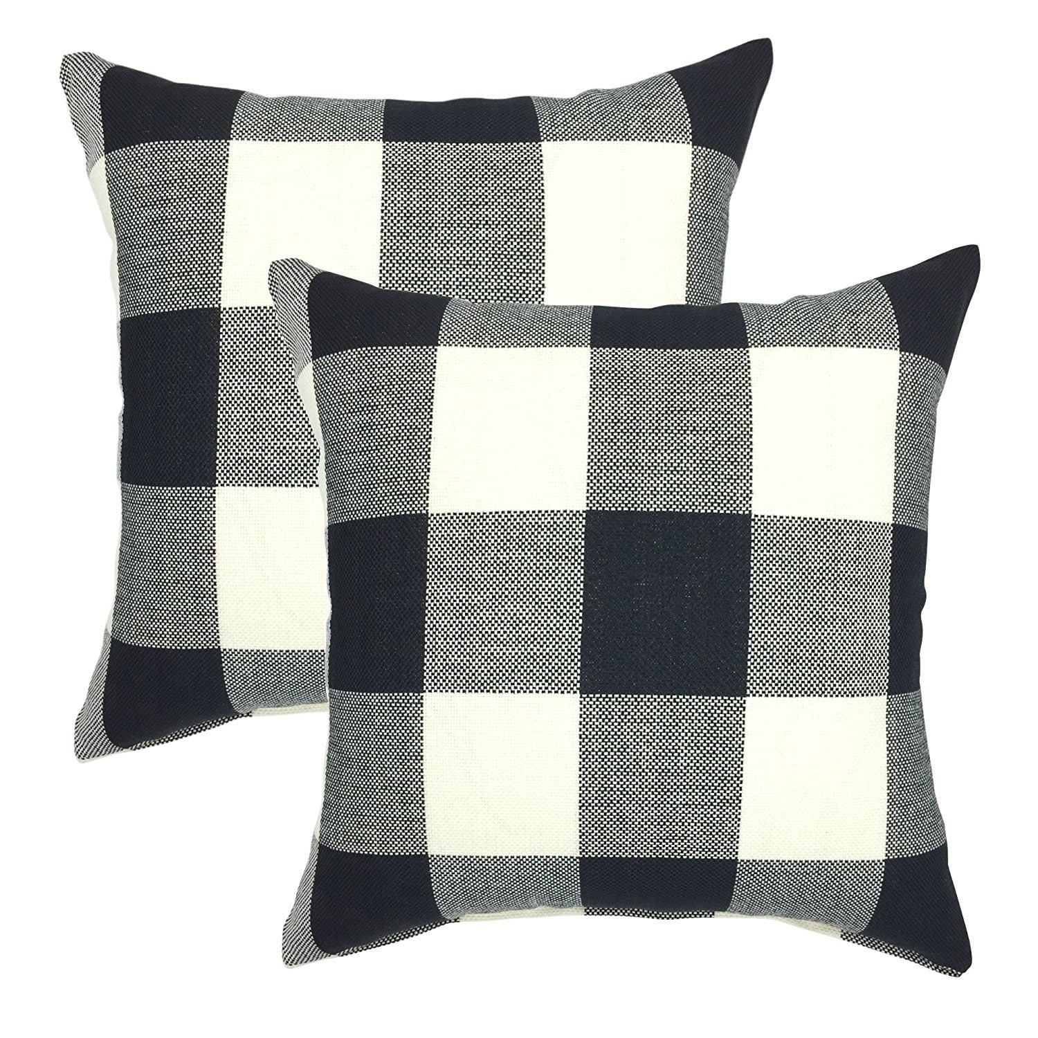 Buffalo Check 18 Inch Decorative Throw Pillow Cover Set Of 2