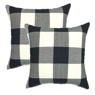 Buffalo Check 18 Inch Decorative Throw Pillow Cover (set of 2)
