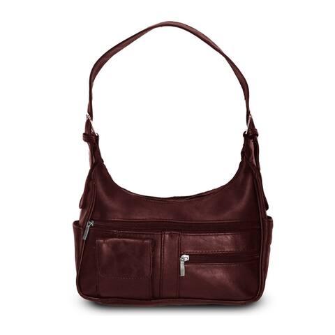 AFONiE Timeless Leather Shoulder Handbag