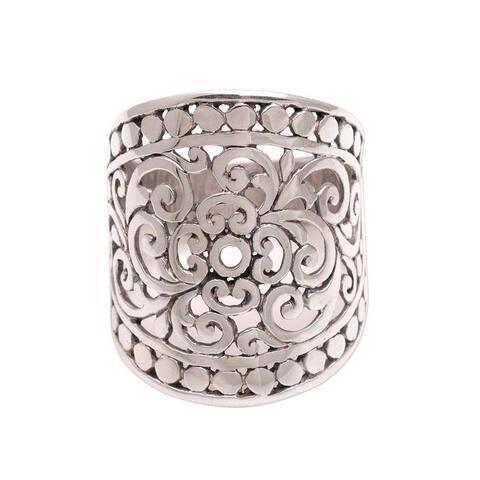 Handmade Sterling Silver 'Memory of Bali' Ring (Indonesia)