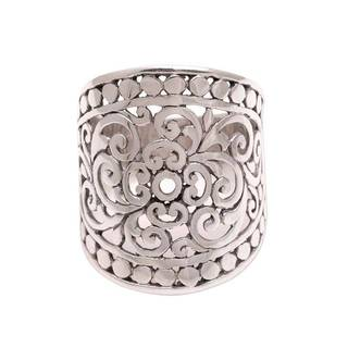 Handmade Sterling Silver 'Memory of Bali' Ring (Indonesia)