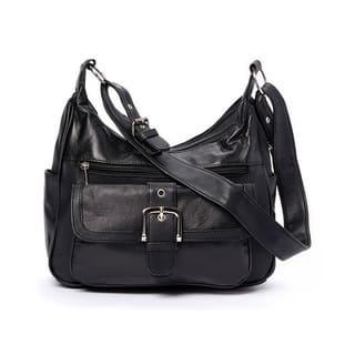 AFONiE Collection Timeless Genuine Leather Shoulder Handbag