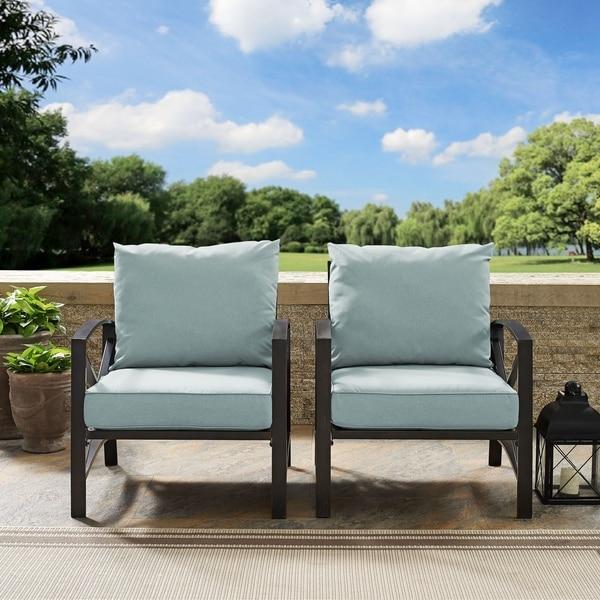 Shop Black Friday Deals On Kaplan 2 Piece Premium Steel Outdoor Seating Set Overstock 19849015