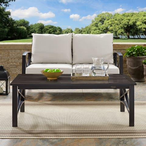 Kaplan Coffee Table in Oiled Bronze