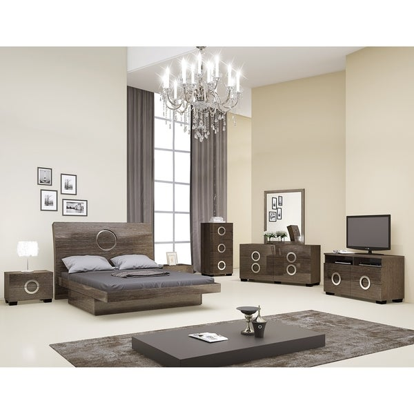 Shop Monte Carlo Contemporary 4 Piece Light Brown Wood