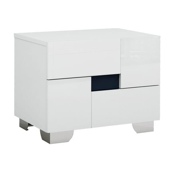 Aria Contemporary White 2 Drawer Nightstand