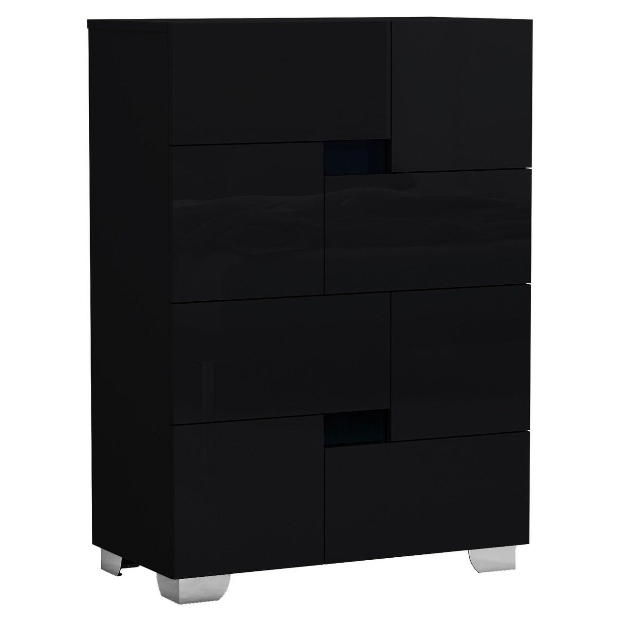 black contemporary dresser