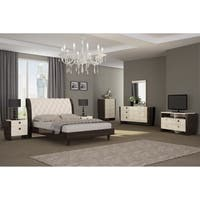Paris Contemporary 4 Piece Wood Bedroom Set
