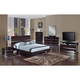 Wynn 4 Piece Dark Brown Wood Bedroom Set