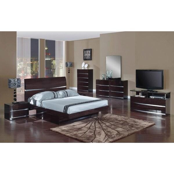 Shop Wynn 4 Piece Dark Brown Wood Bedroom Set