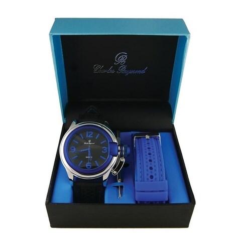 Men Sporty Changeable Band Watch Set 7069 Blue