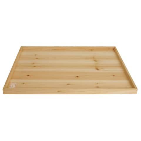 """Wald Imports 30"""" Rectangular Wood Tray"""