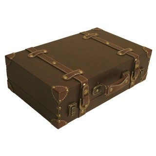 Wald Imports Brown Faux Leather Suitcase