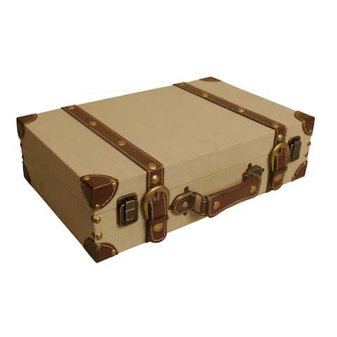 Wald Imports Light Tan Canvas Suitcase
