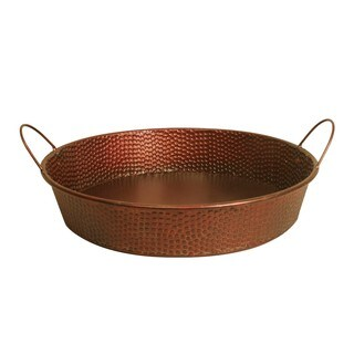 """Wald Imports 18"""" Hammered Metal Tray"""