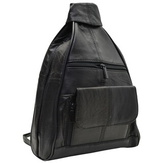 AFONiE Zippered Leather Backpack