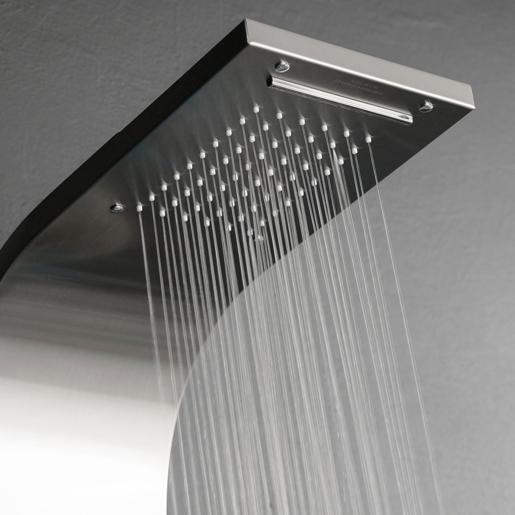 Akdy 59 Rainfall Waterfall Stainless Steel Bathroom Shower Panel System W Spa Handheld Wand