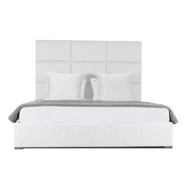 Audrey Square Tufted Mid Height California King Size Bed White