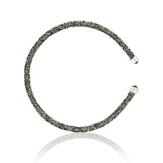 Glittery Luxurious Crystal Bangle Bracelet By Matashi (Many Color Options)
