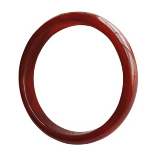 Solid Dark Red Mix Jade Bangle - Sizes 6 and 7