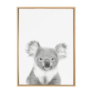 Sylvie Koala II Framed Canvas Wall Art, Natural 23 x 33