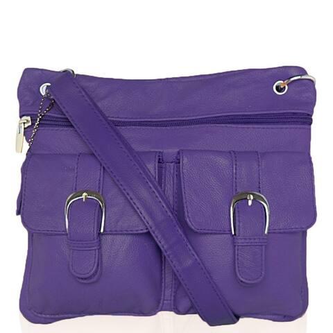 AFONiE Casual Messenger Leather Crossbody Handbag