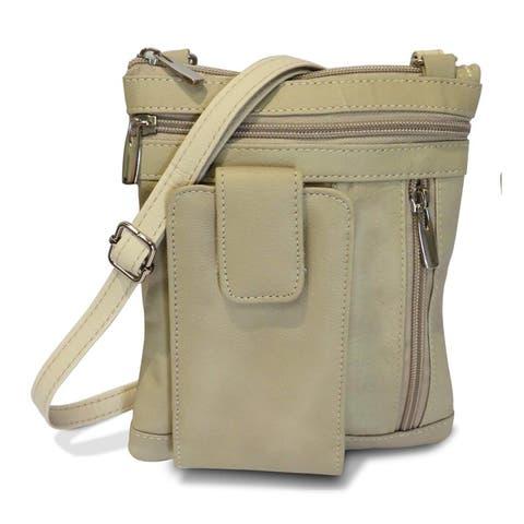 AFONiE On-the-Go Leather Crossbody Handbag