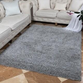 "Ottomanson Soft Cozy Solid Color Contemporary Shag Area Rug - 7'10"" x 9'10"""